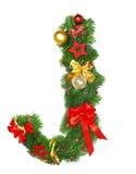 字母表圣诞节j信函 库存照片