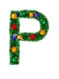 字母表圣诞节p 免版税库存照片