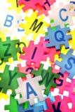 字母表在编号上写字 免版税图库摄影