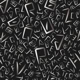 字母表在seemless样式上写字 免版税库存照片
