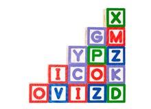 字母表块栈 免版税库存照片