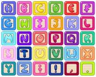字母表块 向量例证