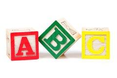 字母表块 免版税库存照片