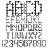字母表块 库存例证