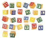 字母表块 免版税图库摄影
