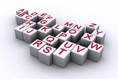 字母表多维数据集 免版税库存图片