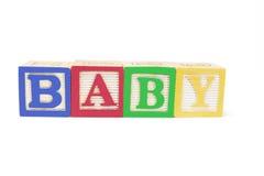 字母表婴孩块 库存照片