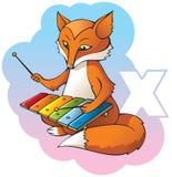字母表子项在x上写字 免版税库存图片