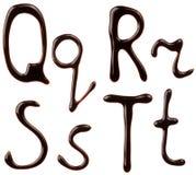 字母表巧克力信函 图库摄影