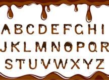 字母表巧克力 库存图片