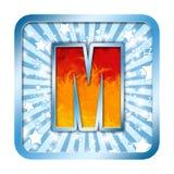 字母表庆祝在m上写字 库存图片