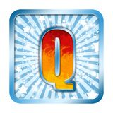 字母表庆祝在q上写字 库存图片