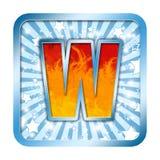 字母表庆祝在w上写字 库存照片