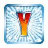 字母表庆祝在y上写字 免版税图库摄影