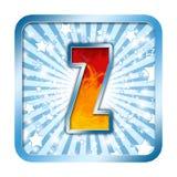 字母表庆祝在z上写字 库存照片