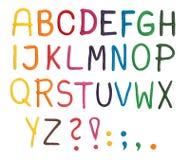 字母表彩色塑泥 免版税库存照片