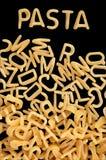 字母表意大利面食汤 免版税库存图片