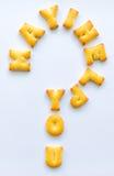 字母表曲奇饼 免版税库存照片