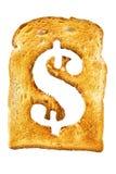 字母表查出的信函多士 免版税库存图片