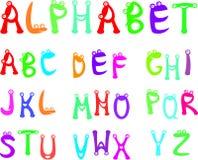 字母表滑稽的孩子 免版税图库摄影