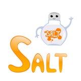 字母表滑稽的盐 库存照片