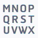 字母表现代纸线颜色概念样式设计。传染媒介我 图库摄影