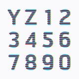 字母表现代纸线颜色概念样式设计。传染媒介我 免版税库存图片