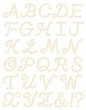 字母表珍珠 库存图片