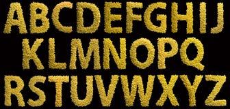 字母表由面团制成以大卫王之星的形式 查出在黑色背景 免版税图库摄影