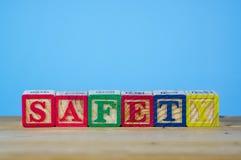 字母表的安排与安全卫生概念的 库存照片