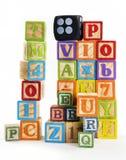 字母表积木 免版税图库摄影
