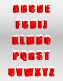字母表红色3d信件 免版税库存图片