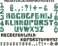 字母表绿色和五颜六色 库存图片
