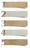 字母表编号被回收的纸工艺 图库摄影