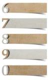 字母表编号被回收的纸工艺 库存图片