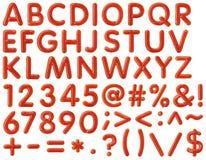 字母表背景书面的番茄酱白色 免版税库存照片