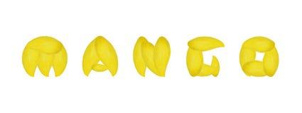 字母表芒果果子 免版税图库摄影