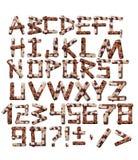 字母表花岗岩纹理瓦片 免版税库存照片