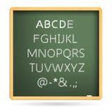 字母表英语在六二十大写上写字 免版税图库摄影