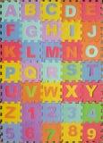 字母表英语冻结光照片使用的拍照技术是 免版税库存照片