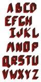 字母表英语冻结光照片使用的拍照技术是 ABC 大写字母 免版税图库摄影