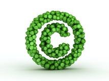 字母表苹果版权绿色符号 图库摄影
