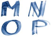 字母表蓝色 免版税库存图片