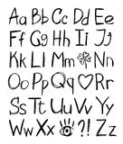 字母表被画的现有量 库存图片