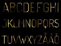 字母表设置与斯堪的纳维亚信件 图库摄影