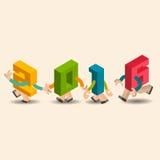 字母表设计新年快乐2016年 免版税库存图片