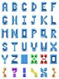 字母表设计 皇族释放例证
