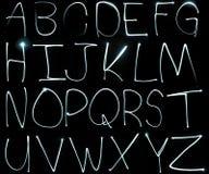 字母表轻的绘画 免版税库存图片