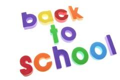 字母表返回学校 免版税库存照片
