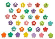 字母表逗人喜爱的彩色塑泥 库存图片